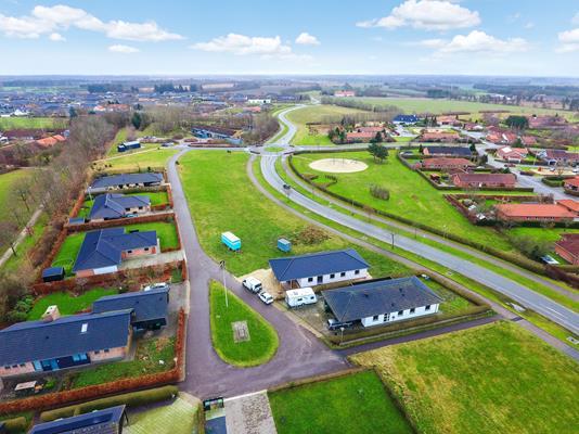 Villa på Tuen i Billund - Luftfoto
