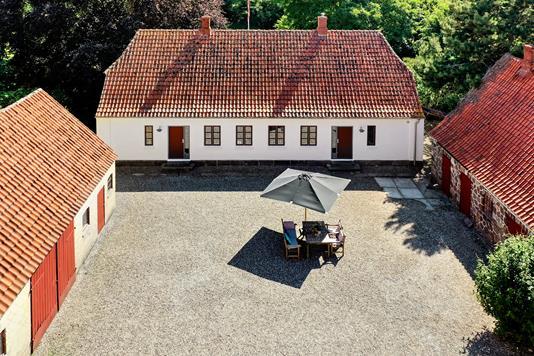 Landejendom på Nordre Skovgyde i Mesinge - Luftfoto