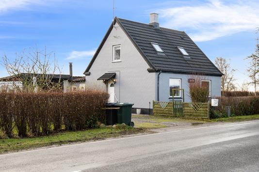 Villa på Bjerreskovvej i Søllested - Set fra vejen
