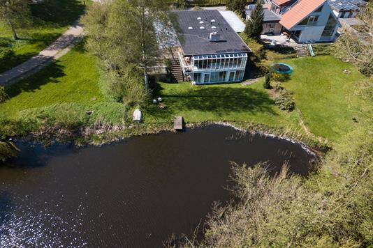Villa på Elme Alle i Værløse - Luftfoto