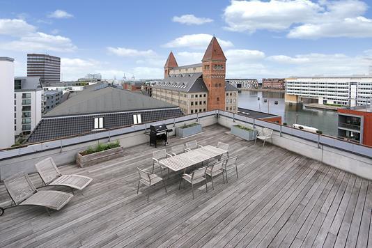 Ejerlejlighed på Amerika Plads i København Ø - Tagterrasse