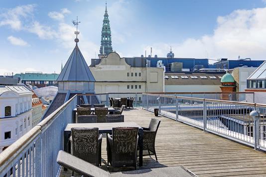 Ejerlejlighed på Silkegade i København K - Tagterrasse