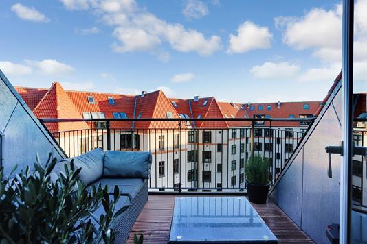 Ejerlejlighed på Århus Plads i København Ø - Altan