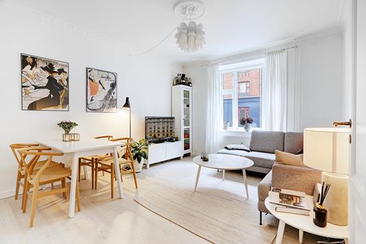 Ejerlejlighed på Ole Jørgensens Gade i København N - Stue