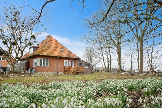 Villa på Mølhøjvej i Esbjerg Ø - Set fra haven