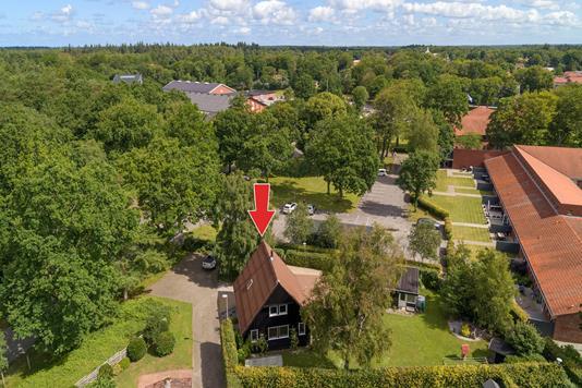 Villa på Bangsvej i Oksbøl - Luftfoto