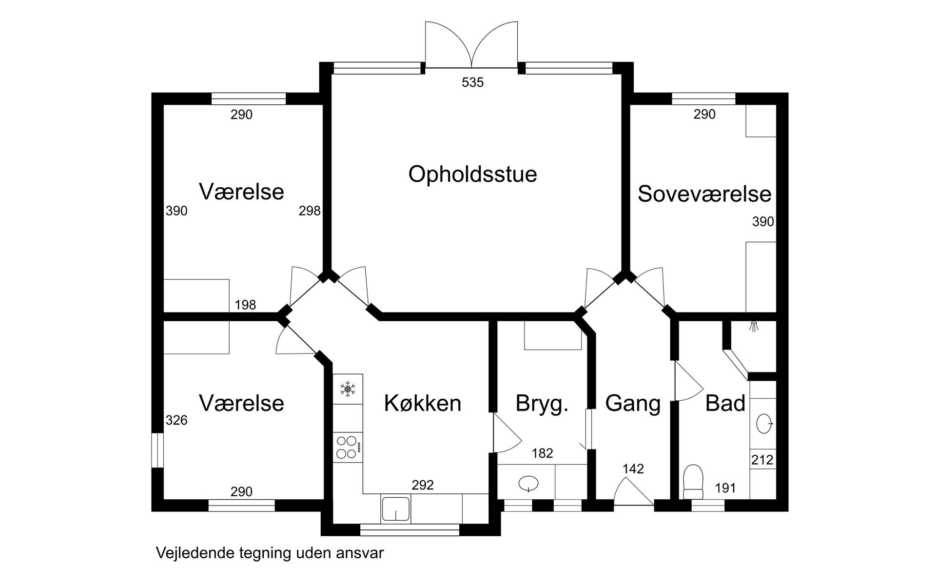 Rækkehus på Kobberupvej i Holstebro - Plantegning
