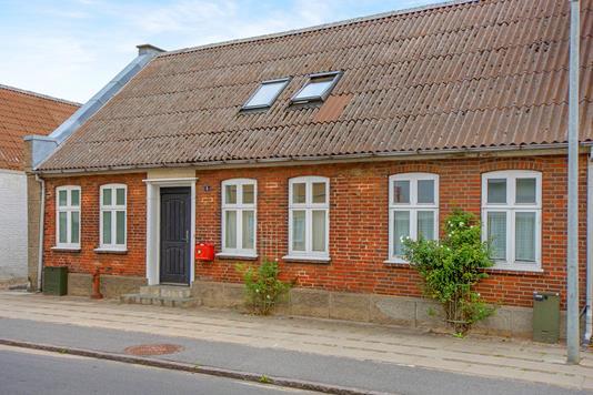 Rækkehus på Søndergade i Holsted - Facade