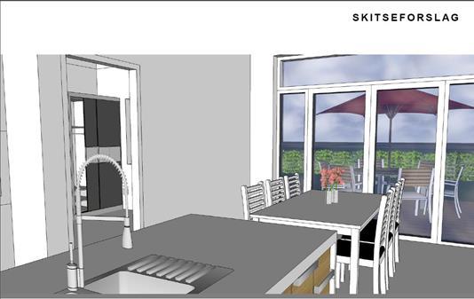 Villa på Enebærvej i Karup J - Køkken