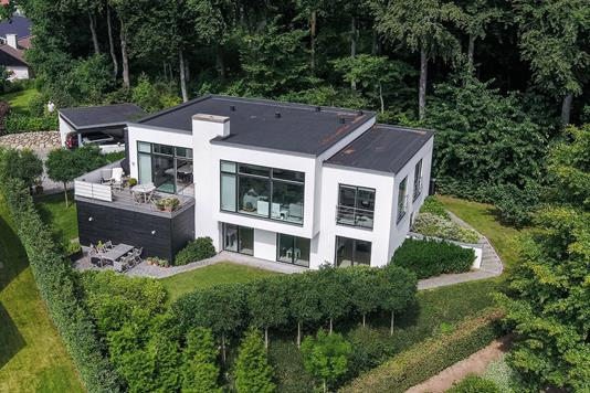 Villa på Vinbjergvej i Vejle Øst - Luftfoto