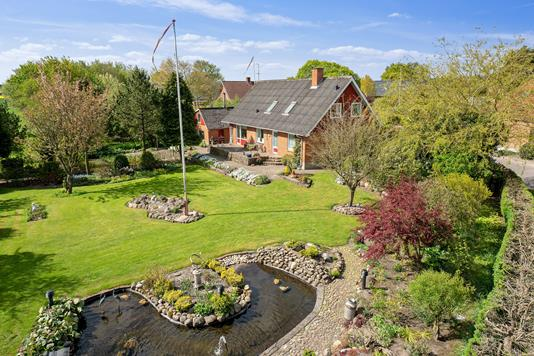 Villa på Birkesøvej i Stoholm Jyll - Set fra haven