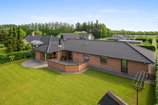 Villa på Tylstrupparken i Tylstrup - Set fra haven