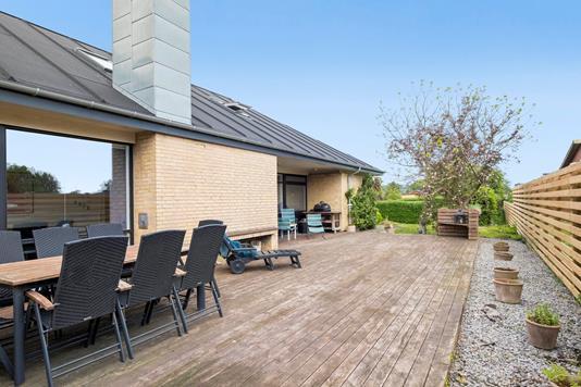 Villa på Aagade i Storvorde - Terrasse