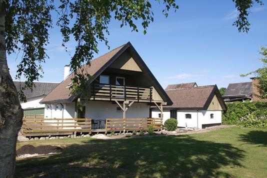 Villa på Møllegade i Sindal - Set fra haven