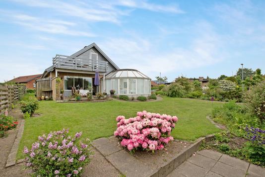 Villa på Rosenvang i Hornslet - Have
