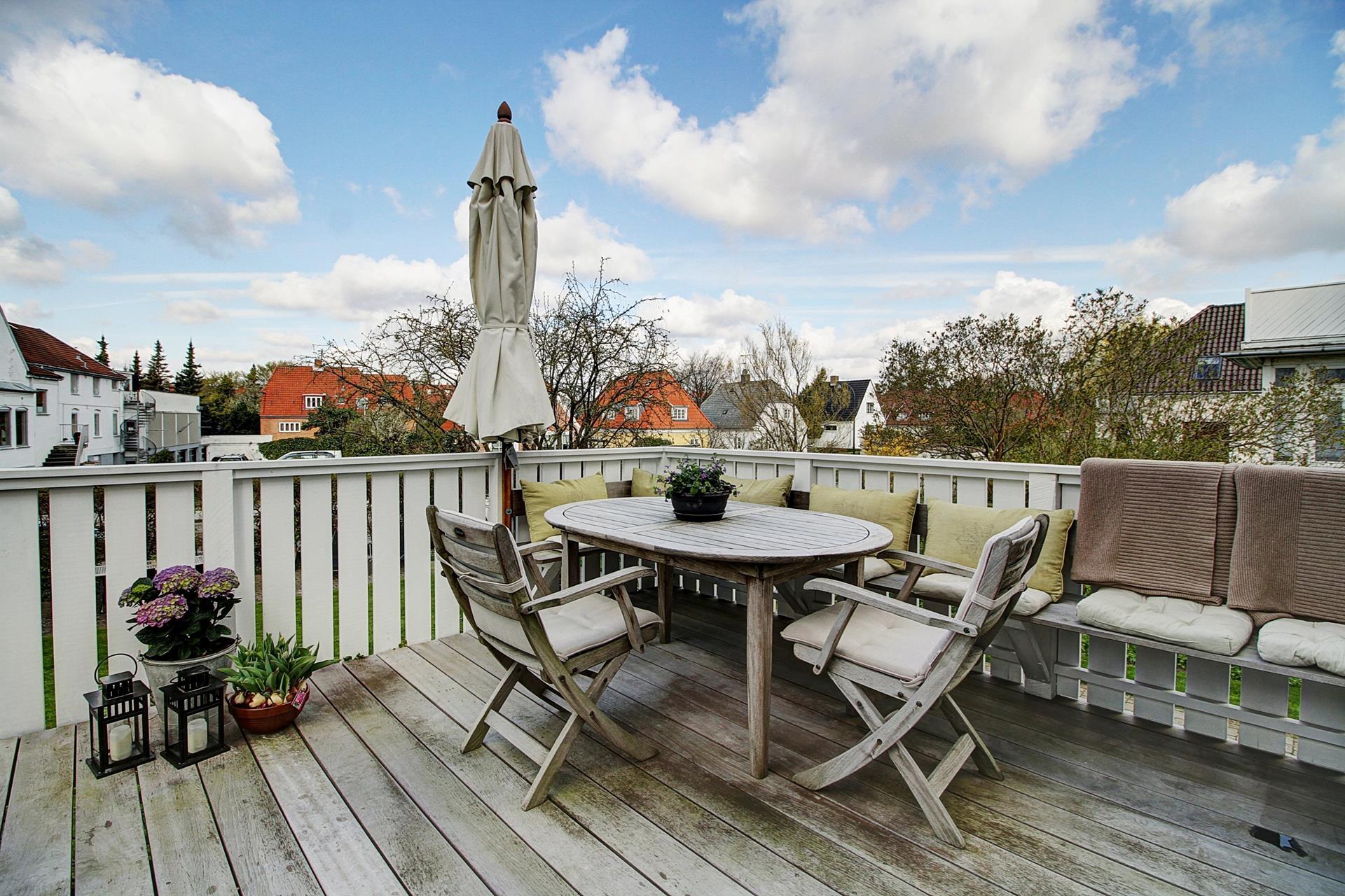 Villalejlighed på Søtoften i Gentofte - Terrasse