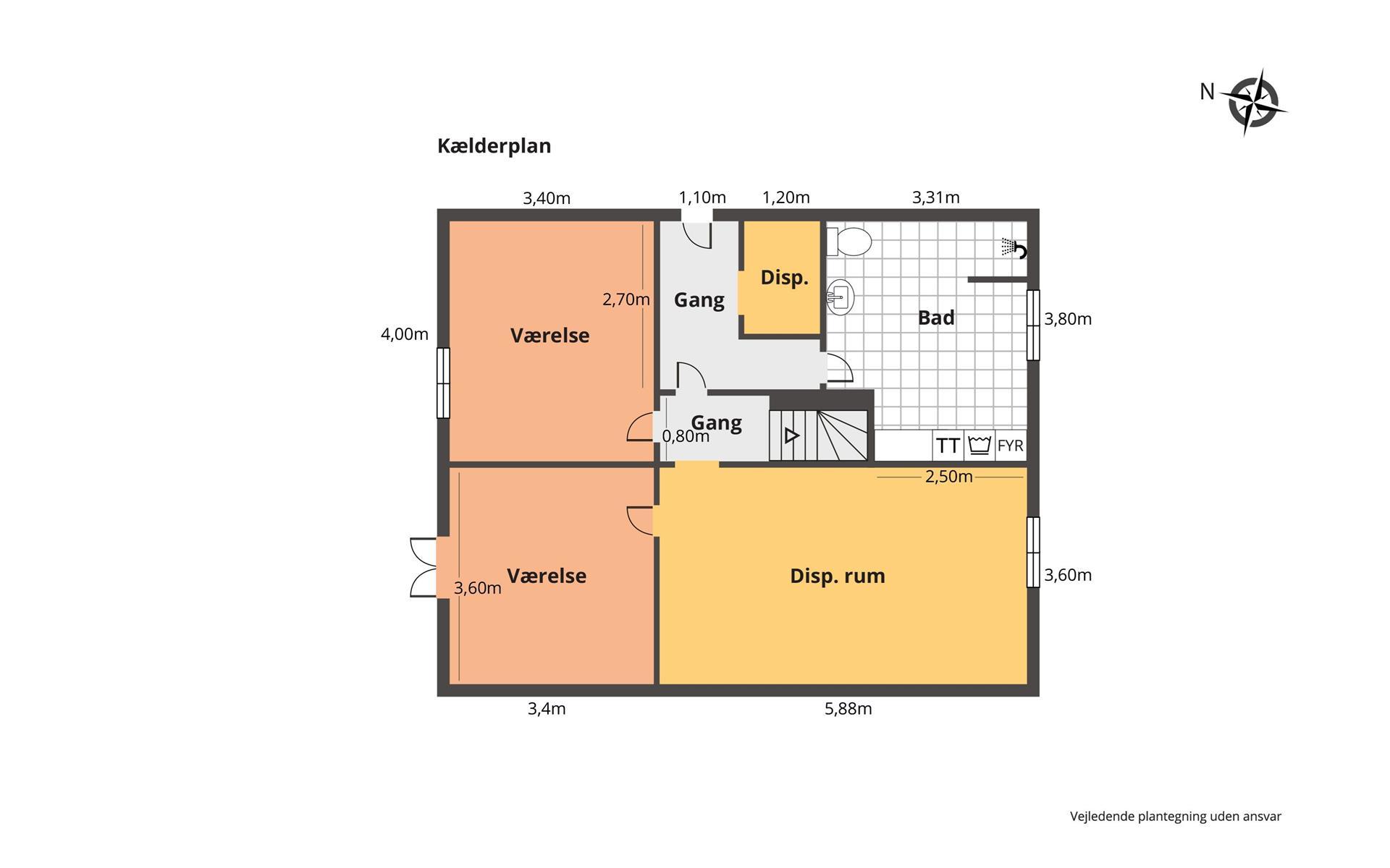 Rækkehus på Ringerbakken i Virum - Plantegning