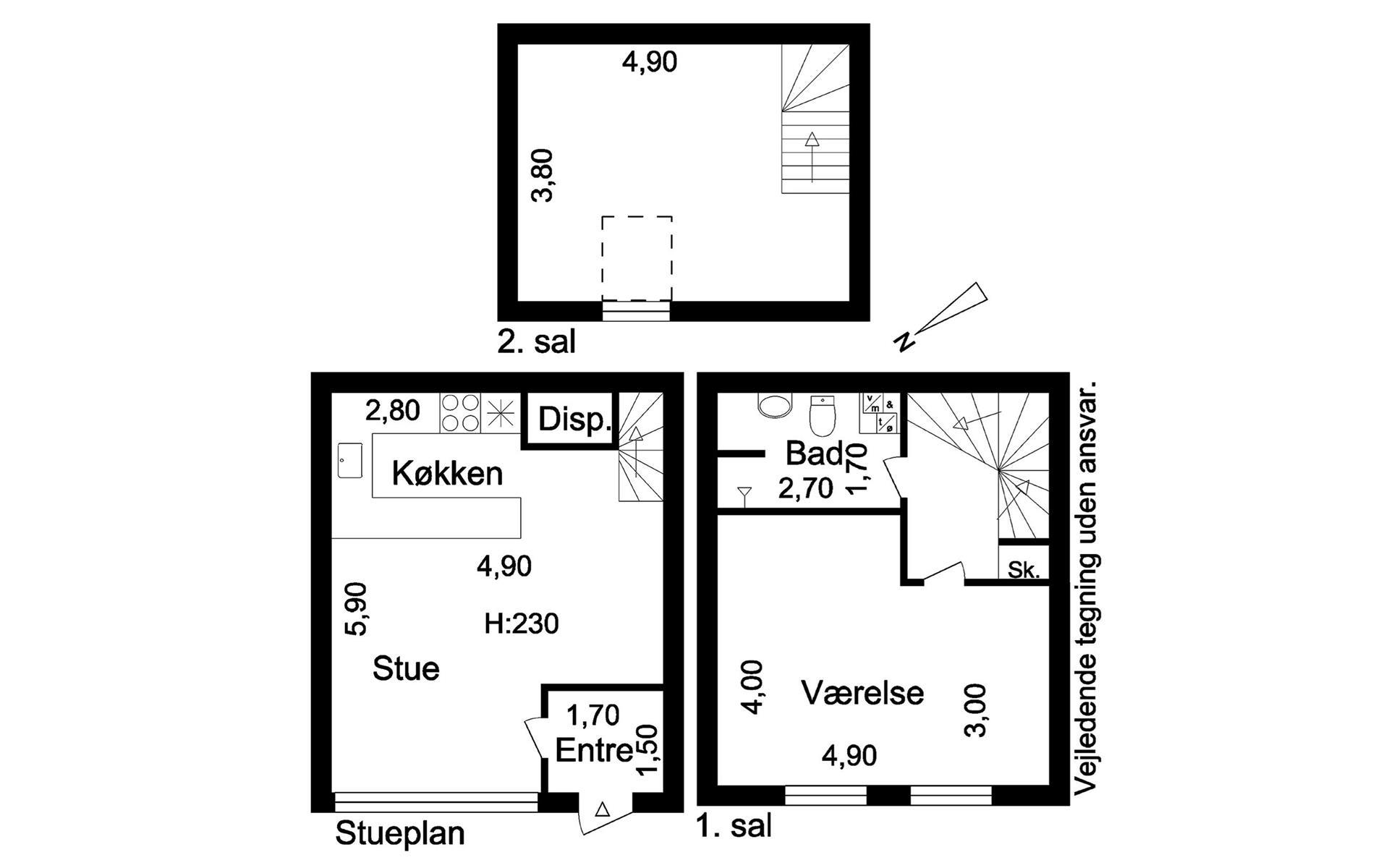 Rækkehus på Vejledalen i Ishøj - Plantegning