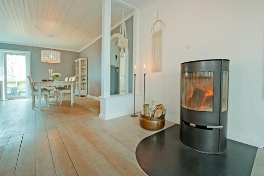 Villa på Banebroen i Ejby - Stue