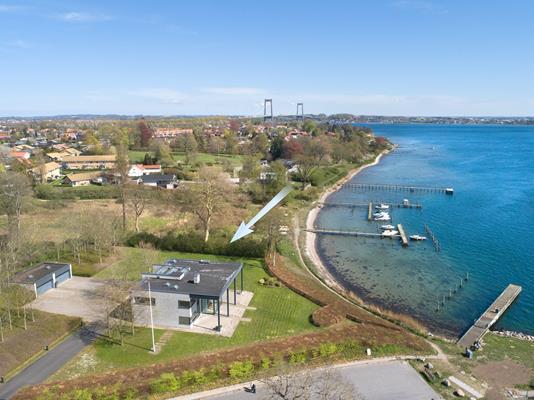 Villa på Gl. Færgevej i Fredericia - Luftfoto