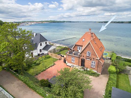 Villa på Gl Strandvej i Middelfart - Luftfoto