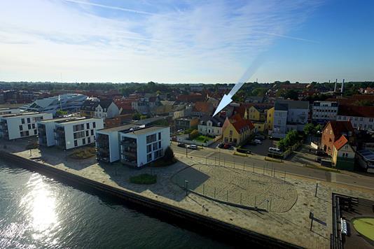 Villa på Havnegade i Middelfart - Luftfoto
