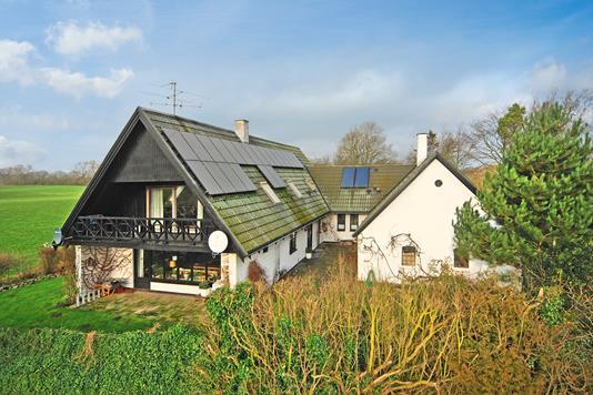 Villa på Øksendrupvej i Hesselager - Mastefoto