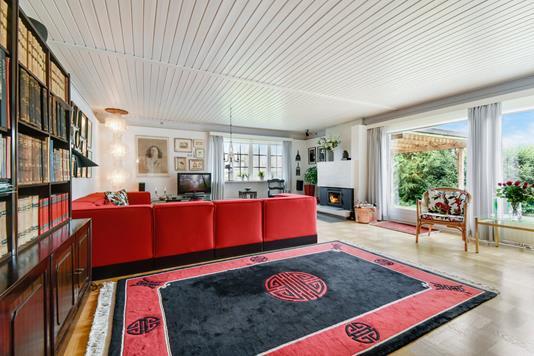 Villa på Hjortekærbakken i Kongens Lyngby - Stue