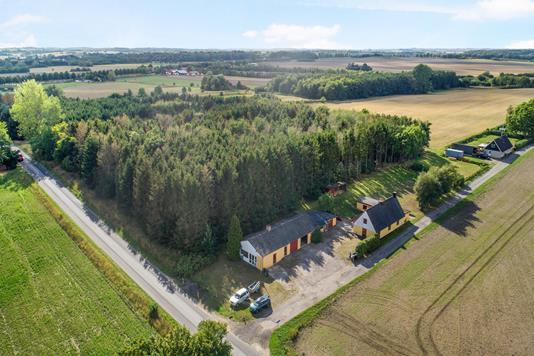 Villa på Butterupvej i Regstrup - Luftfoto