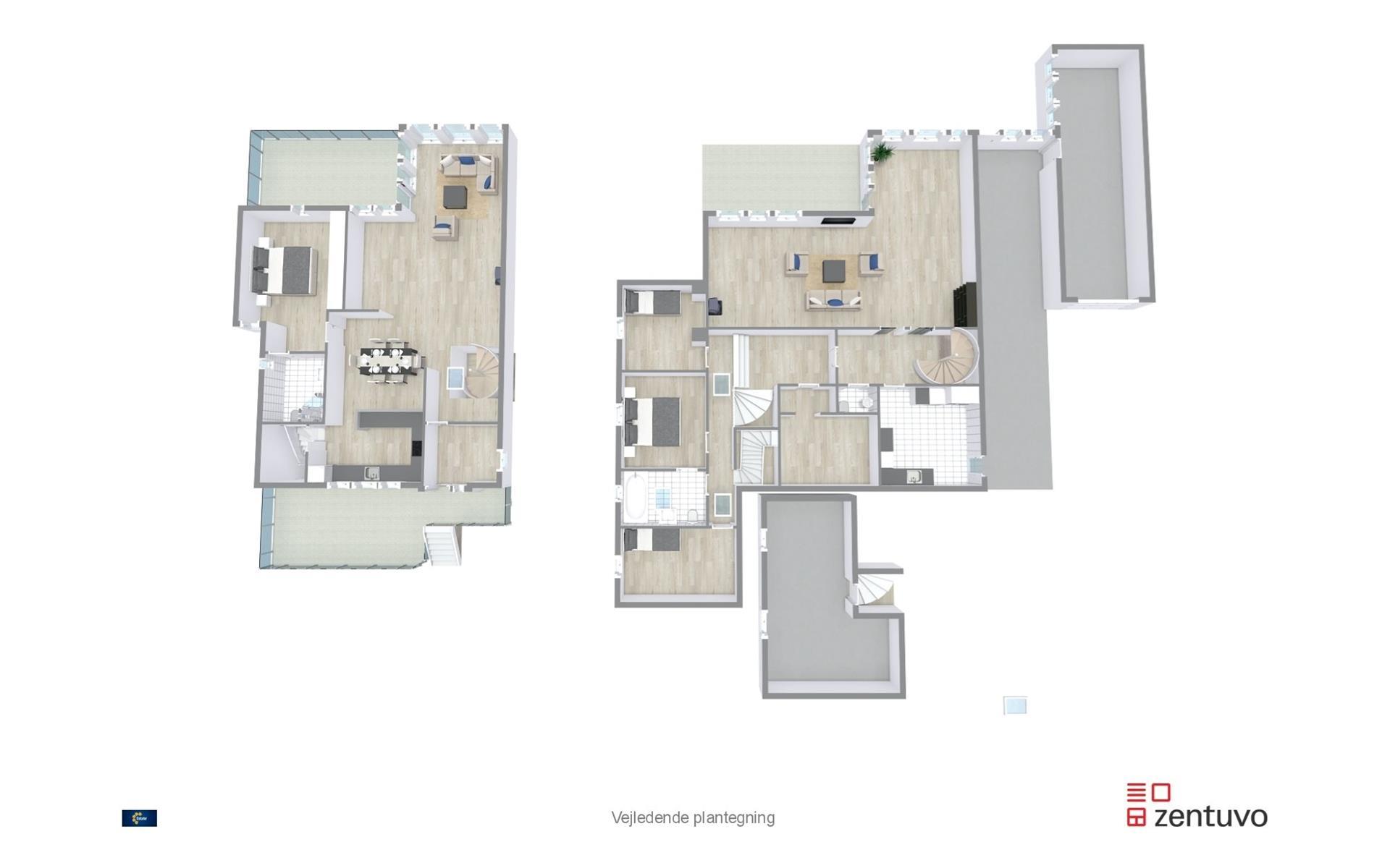 Villa på Birkebakken i Lystrup - Plantegning