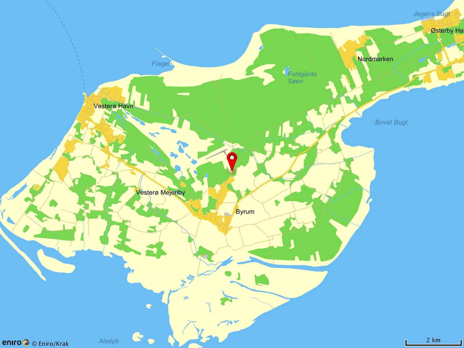 Fritidsgrund på Doktorvejen i Læsø - Område