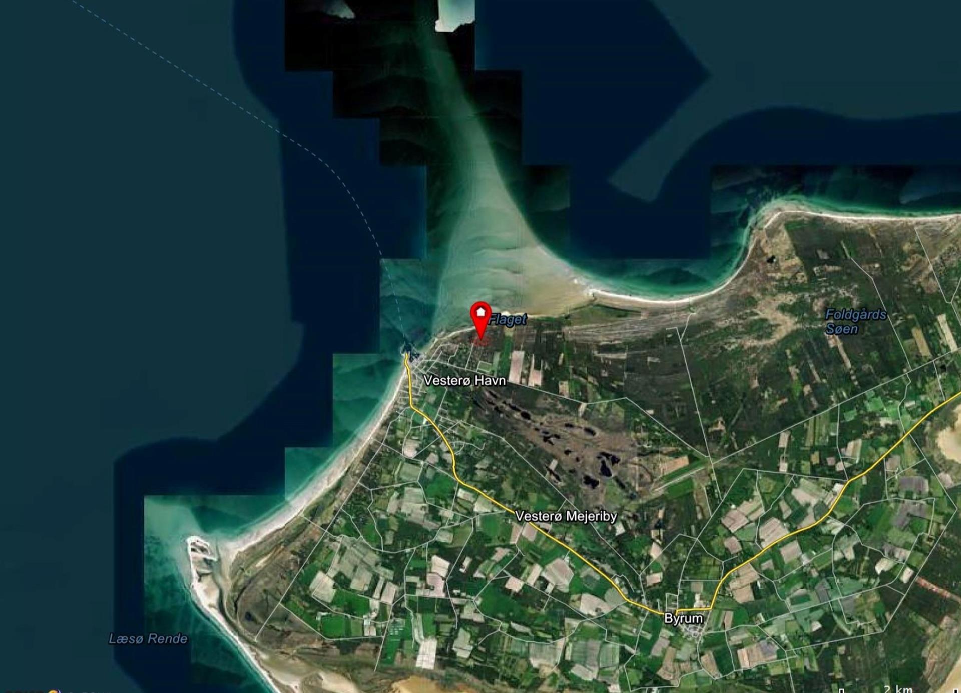 Fritidsgrund på Sandskægvej i Læsø - Kort