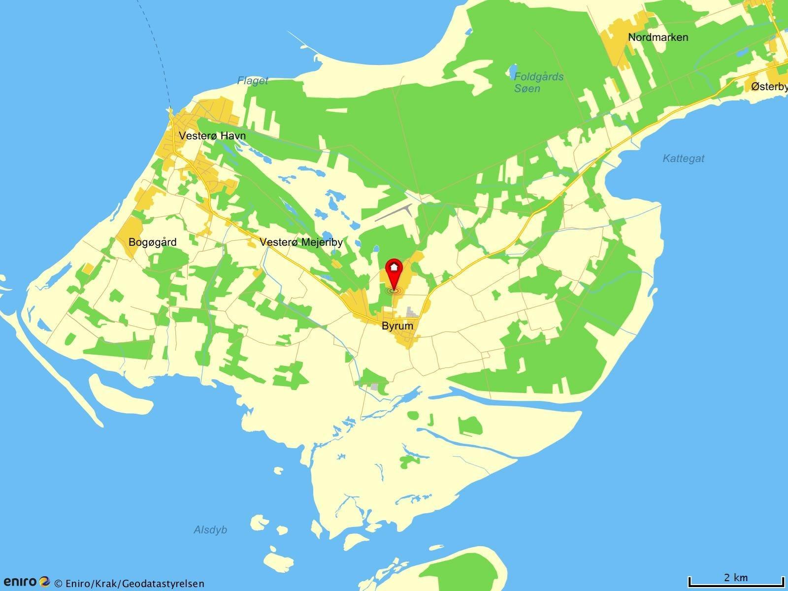 Fritidsgrund på Doktorvejen i Læsø - Kort