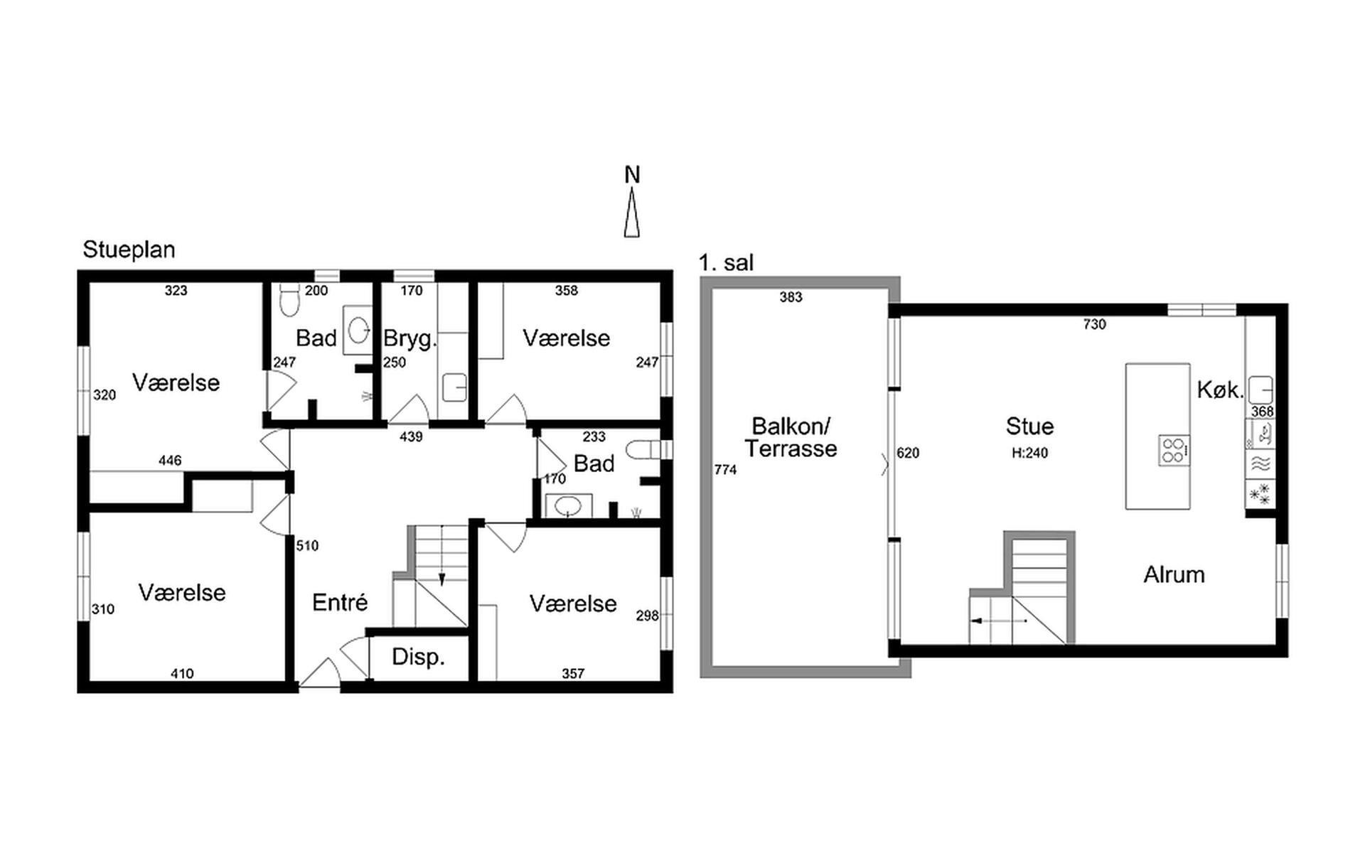 Villa på Strandvejen i Vejle Øst - Med mål