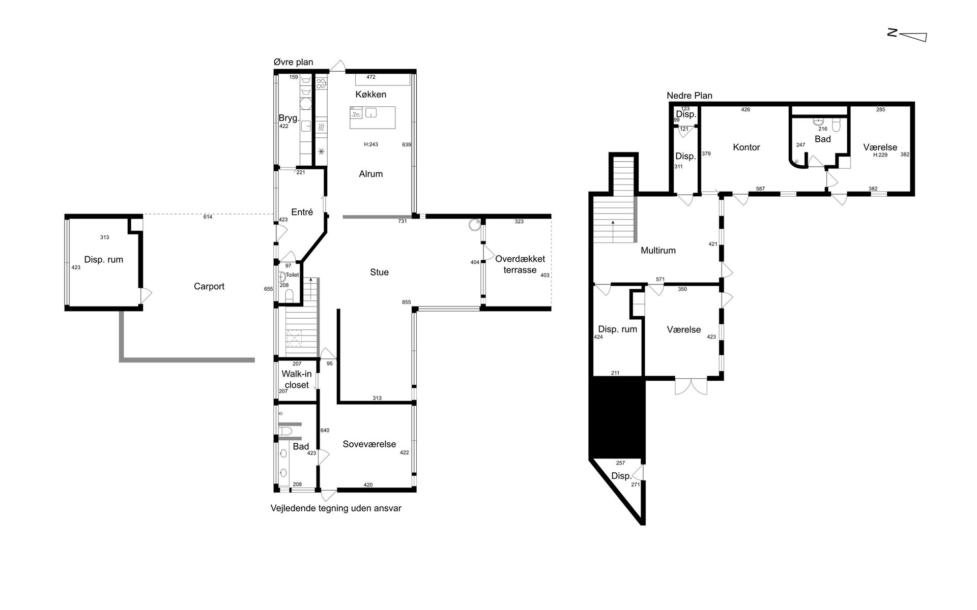 Villa på Dyrehegnet i Vejle Øst - Plantegning
