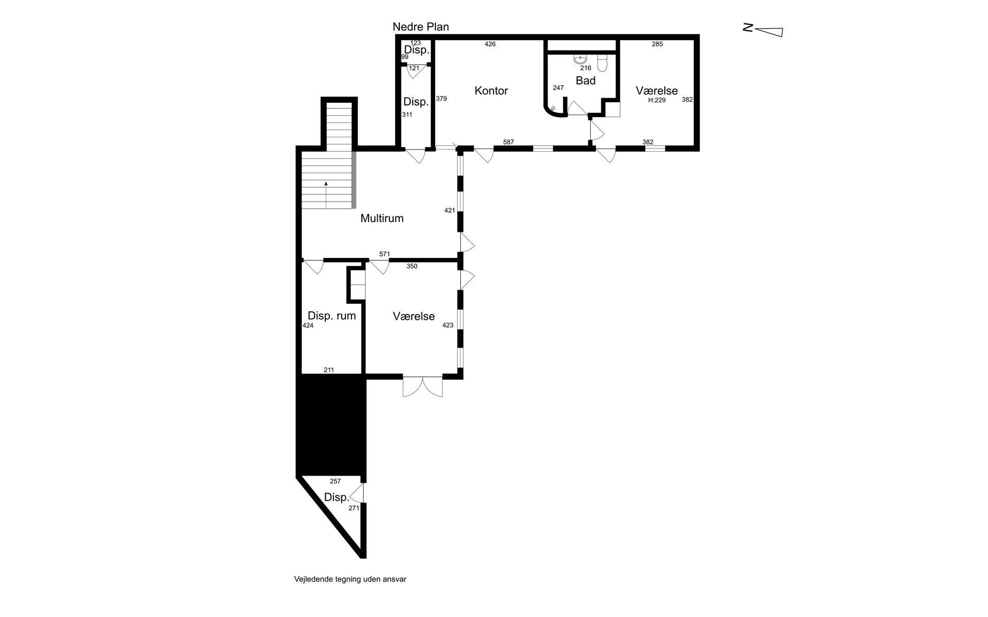 Villa på Dyrehegnet i Vejle Øst - 1. sal