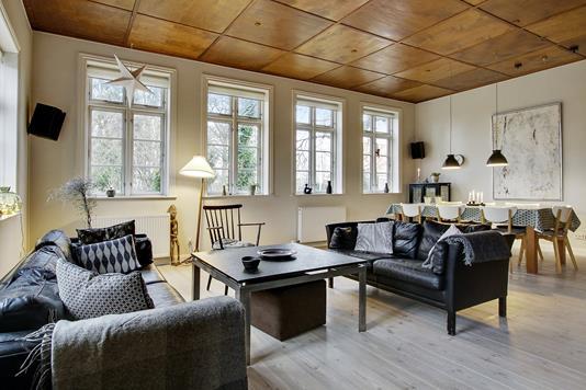 Villa på Vestervang i Bredsten - Stue
