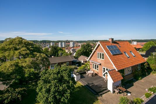 Villa på Sæteren i Vejle - Set fra haven