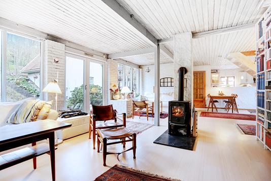 Villa på Stenpilstræde i Veksø Sjælland - Stue