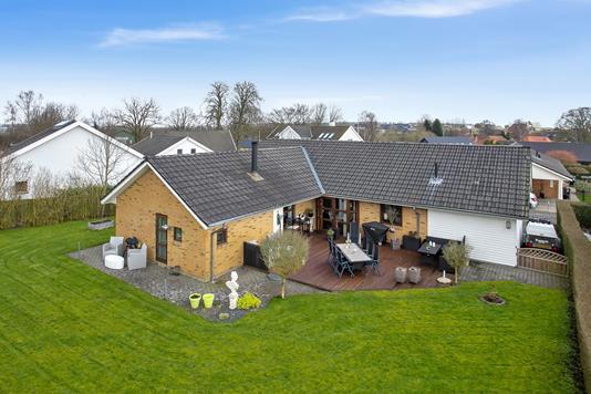 Villa på Gl Egebjergvej i Horsens - Set fra haven