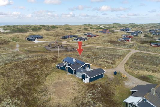 Fritidsbolig på P Chr Dahls Vej i Hvide Sande - Luftfoto