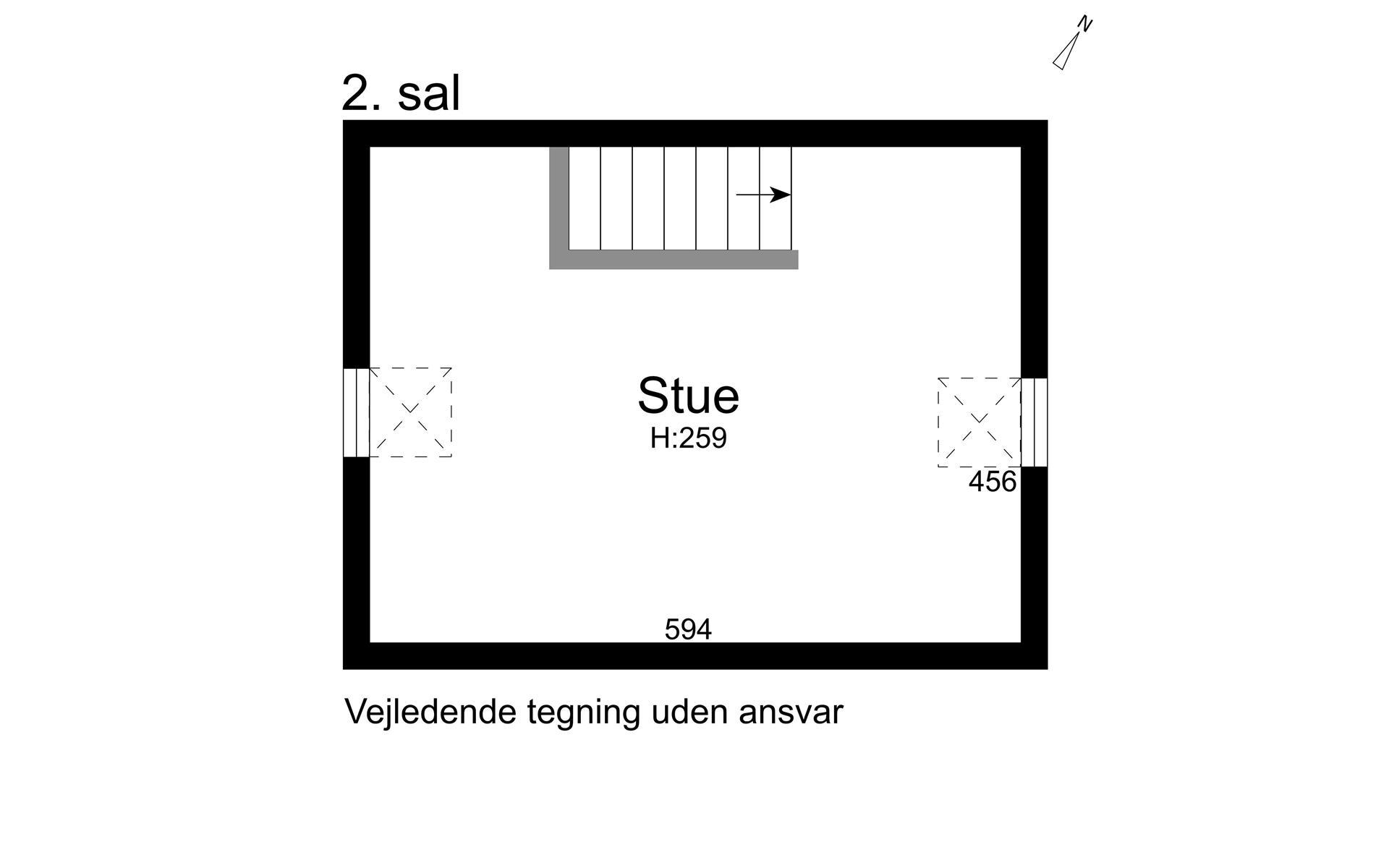 Rækkehus på Vejledalen i Ishøj - 2. sal