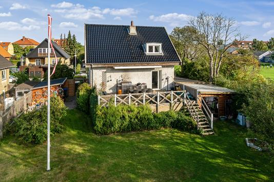 Villa på Edithsvej i Glostrup - Set fra haven