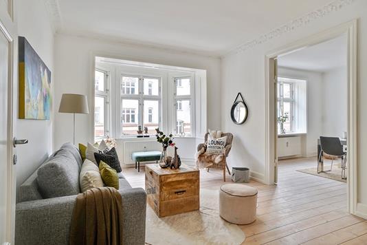 Ejerlejlighed på P.D. Løvs Allé i København N - Stue