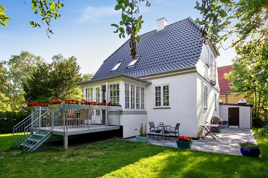 Villa på Magnoliavej i Frederiksberg - Set fra haven