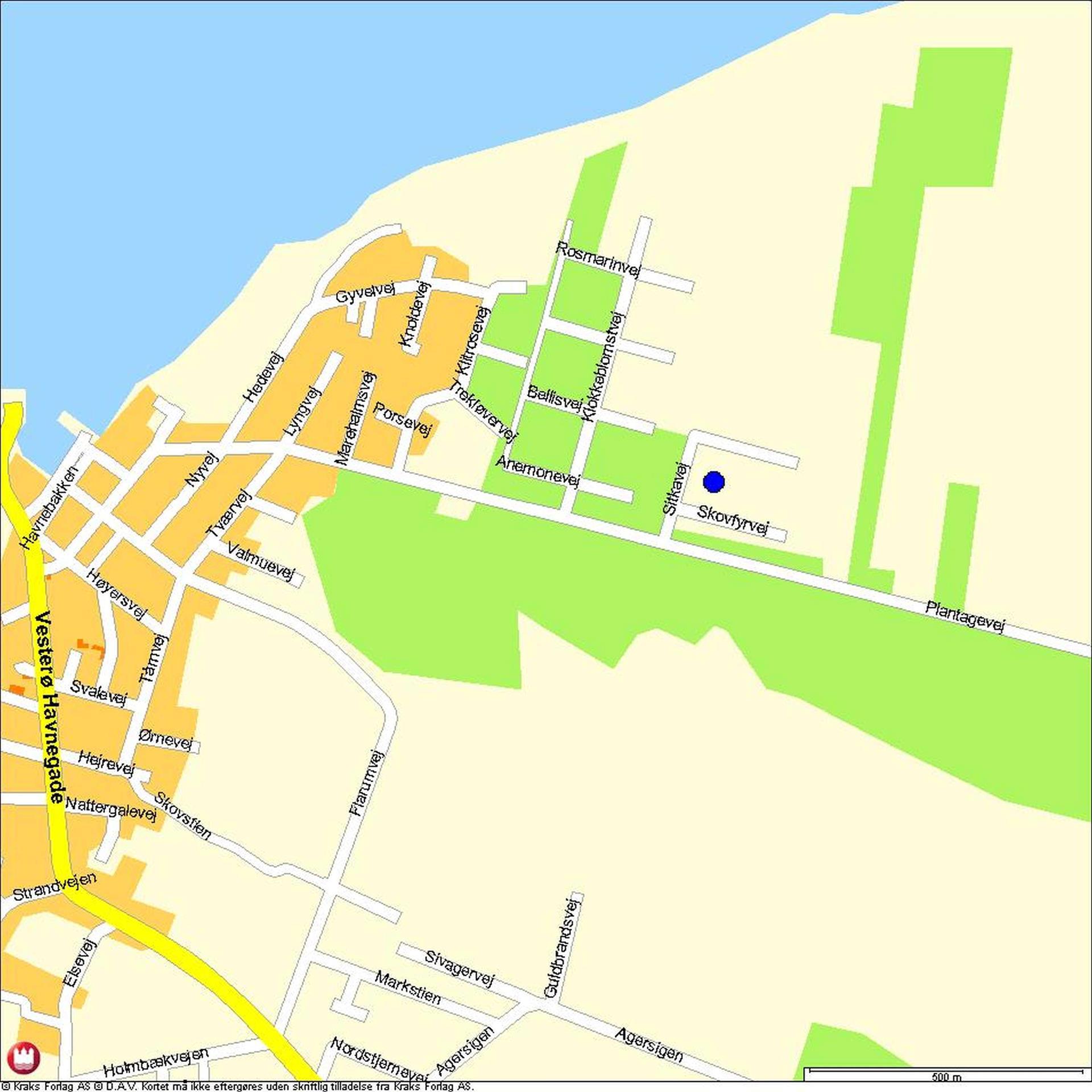 Fritidsgrund på Plantagevej i Læsø - Område