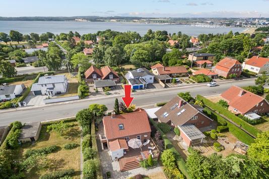 Villa på Gl Næssevej i Horsens - Luftfoto