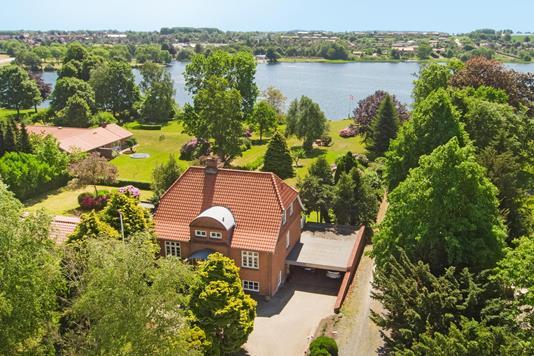 Villa på Ribe Landevej i Haderslev - Luftfoto