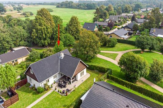 Villa på Thøger Larsens Alle i Ballerup - Luftfoto