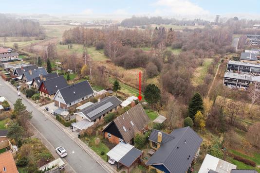 Villa på Vadsbjerg i Måløv - Luftfoto